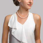 7.0-7.5mm Freshwater Pearl Necklace & Earrings - Secondary Image